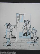 "CLIFFORD C LEWIS ""CLEW"" Original Pen & Ink Cartoon - William Tell Doctor #337"