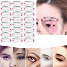 Eyebrow Grooming Shaping Stencil Kit Eye Brow Template Makeup Shaper Tool Brown