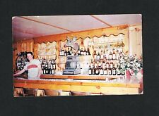 RARE World Champion boxer BILLY SOOSE restaurant postcard boxing Mt Poconos PA