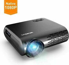 "Wimius Projektor 6500 Lumen Beamer Native 1920x1080 Support 4k 300"" LCD"