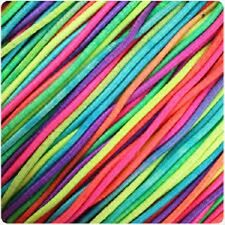 Rainbow 1mm Elastic for threading beads jewellery making - 5m supplied