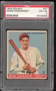 1933 Goudey Adam Comorosky #77 Pittsburgh Pirates PSA 4 SET BREAK