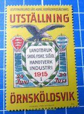 Cinderella/Poster Stamp - 1915 Sweden Utställning Örnsköldsvik 851