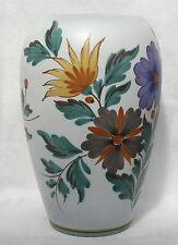 Vintage Gouda Viola Flora 1493 Holland Large Ballister Vase Hand painted 27cm