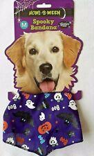 Halloween - Spooky Bandana - Glitter Print - Medium - Purple - Brand New
