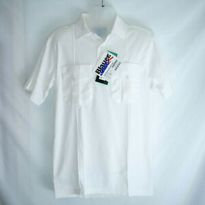 NEW /WD BLAUER Streetgear 8130 Bicomponent Short Sleeve Knit Shirt White Medium