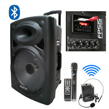 Battery Powered Portable PA System with Wireless Handheld Headset Mics Bluetooth