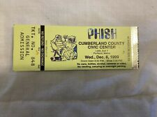 Phish Pollock Ticket Stub 12/8/99 @ Cumberland County Civic Center