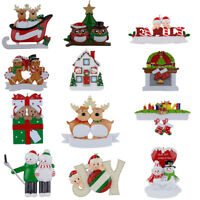 Family of 2 Personalized Christmas Ornaments Christmas Gift DO-IT-YOURSELF