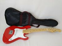 Burswood Childs Junior 1/2 Size Red Electric Guitar with Bag Free Postage