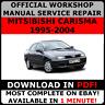OFFICIAL WORKSHOP Service Repair MANUAL MITSUBISHI CARISMA 1995-2000