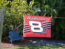 BUDWEISER RACING FLAG #8 CAR DALE  JR ( Made in USA) NASCAR man cave sign