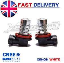 2x H11 CREE 5W Q5 LED FOG LIGHT PROJECTOR BULBS TO MATCH HID KIT 6000K