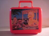 Sesame Street  Plastic Lunchbox, No Thermos! (Used) Elmo, Big Bird, Ernie & Bert