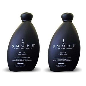 Lot of 2 Supre Smoke Black Bronzer Indoor Tanning Bed Lotion