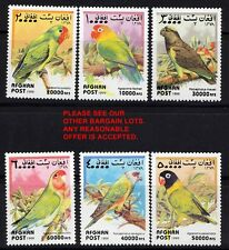 Afghanistan 1999 WILD Birds / colorful PARROTS MNH