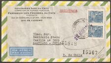 1109 Brazil To Chile Registered Air Mail Cover 1954 Rio - Santiago