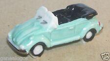 RARE VW COX KAFER COCCINELLE CABRIOLET BLEU CLAIR FEVE PORCELAINE 3D 1/160 NEUF
