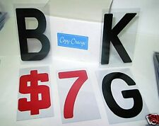 """8"""" on 8 7/8"""" BLOCK Flexible Sign Letters for Outdoor Portable Marquee Signs"""