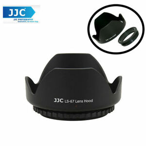 JJC LS-67 (67mm) Universal flower Screw-in Lens Hood for Standard Zoom Lens