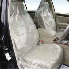 Hot Sale 100 Pcs Car Auto Cover Clear Disposable Plastic Films Seat Covers New