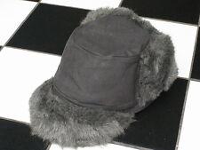 Gris Gris X de piel sintética estilo Trapper de algodón/Sombrero Estilo Aviador