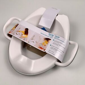 Munchkin Sturdy Toddler Potty Seat Training Seat With Handles Grey / White