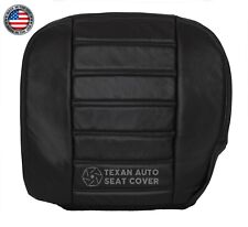 2003 2004 Hummer H2 SUV Driver Side Bottom Synthetic Leather Seat Cover Black