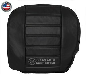 2003-2007 Hummer H2 SUV SUT Passenger Bottom Synthetic Leather Seat Cover Black