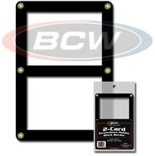 BCW Black Border Screwdown Double Card Standard Trading Card Holder - Qty. 200
