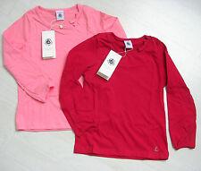 T-Shirt, langarm, aprikot oder kaminrot von Petit Bateau. NEU!!!