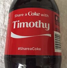 Share a COKE with Timothy 20 fl oz Collectible Bottle Rare Coca-Cola 10/26/15