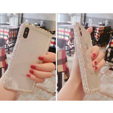 Bling Diamond Side Rhinestone Clear Case for iPhone 11 X XS MAX XR 5 6 7 8 Plus