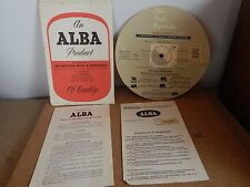 Vintage Alba Model 328 Instructions And guarantee certificate vintage hifi