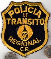 Vintage Military or Police Patch Costa Rica POLICIA de TRANSITO REGIONAL C.R.