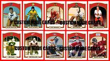 Retro CUSTOM MADE High Grade Hockey Cards Many Obscure Players NHL WHA U-Pick