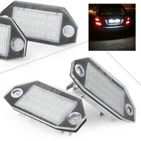 LED License Plate Number Lights Lamp for FORD Mondeo MK3 2000-2007 White Pair