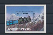 LO03597 Bhutan railroads locomotives trains good sheet MNH
