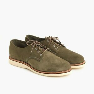 NIB $269 Red Wing Foreman Oxford 4536 Loden Abelene US Mens 10D