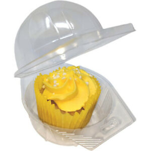 Plastic Cupcake Boxes Muffin Holder Cases Domes Cups Pods