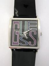 GUESS Noir Vernis Cuir Grand Logo Montre Femme W75022L1