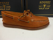 SPERRY TOP SIDER MENS BOAT SHOE GOLD CUP A/O 2-EYE TAN GUM SIZE 12 WIDE