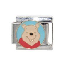 Winnie the Pooh circle Italian Charm - fits 9mm classic Italian charm bracelets