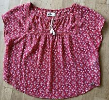 Hollister Womens Red Pattern Top Size S