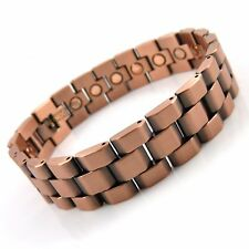 Gents MAGNETIC BRACELET strong magnets bangle in antique copper mens quality NEW