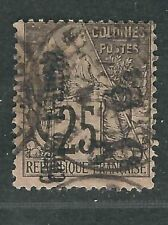 French Congo Stamps 11 var Yv 6a Dbl Surch Used Ave 1891 SCV $135++