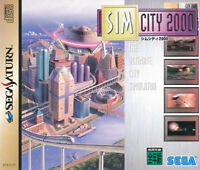 SimCity 2000  Sega Saturn Japan Import  Mint/Good     US SELLER