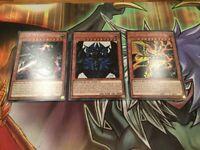 Yugioh: Egyptian God Cards - Set Of 3 Secret Rares - Slifer, Ra, Obelisk - TN19