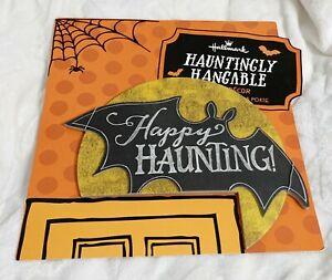 Hallmark, Halloween Happy Haunting Bat with Moon Above Door Decoration