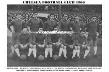 CHELSEA F.C. TEAM PRINT 1966 (OSGOOD/GRAHAM/VENABLES/HARRIS)